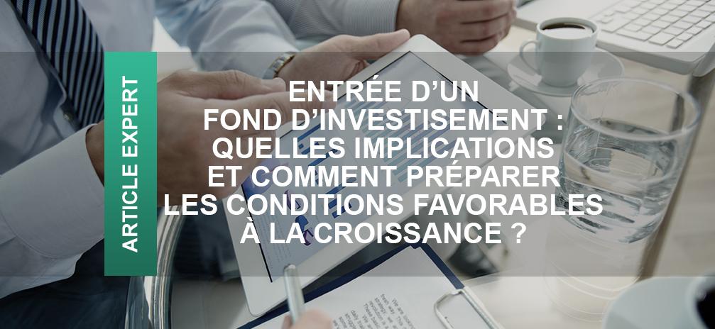 croissance financière fond d'investissement