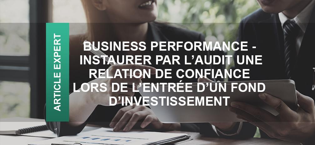 audit relation confiance fond d'investissement